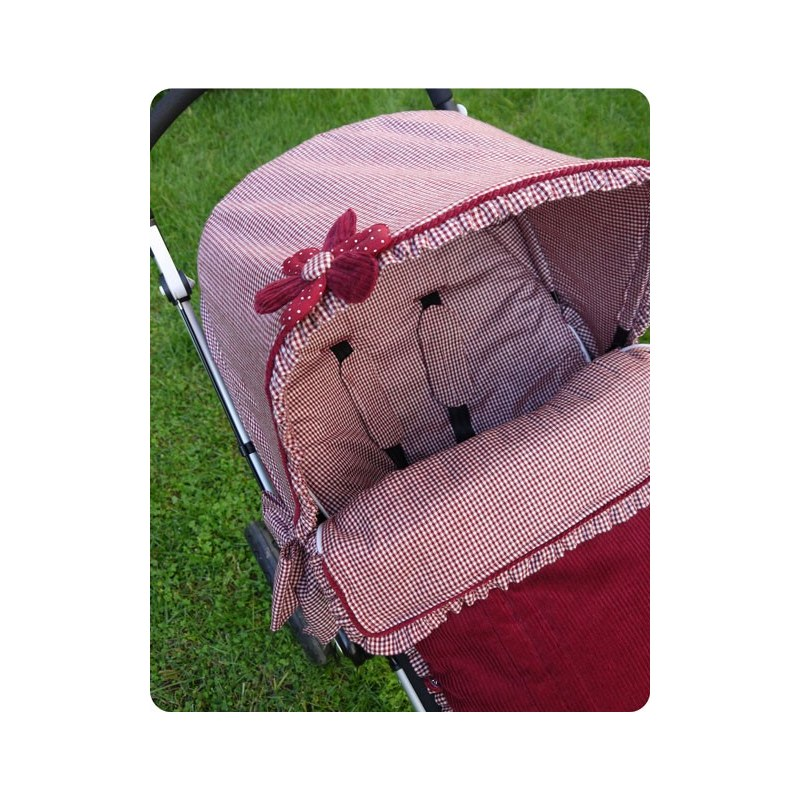 Funda de silla con saco bugaboo cuadros rojos - Cuadros con tela de saco ...