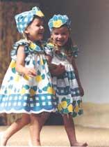 Desfile Pito Pito niñas azul