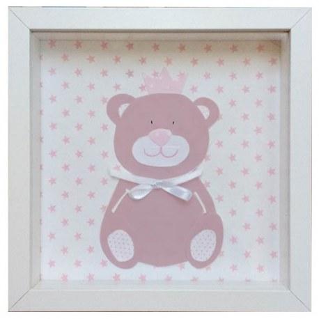 Cuadro oso rosa