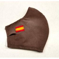 Mascarilla homologada topo bandera española
