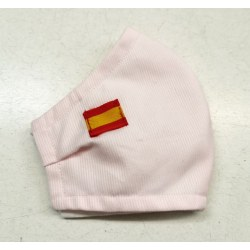 Mascarilla homologada rosa palo bandera española