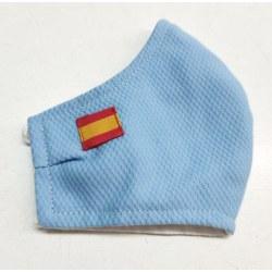 Mascarilla homologada ice blue bandera española