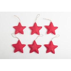 Pack 6 Adornos Navidad Estrellas motas